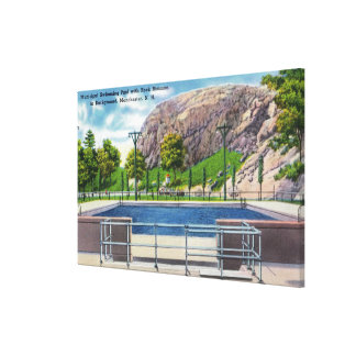 Municipal Pool View of Rock Rimmon Canvas Print