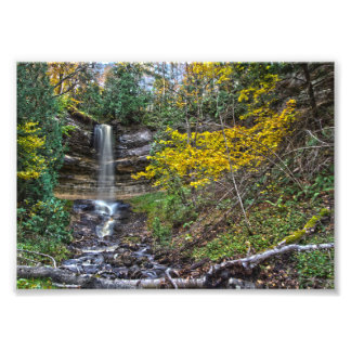Munising Falls, Michigan in Autumn Photo Art