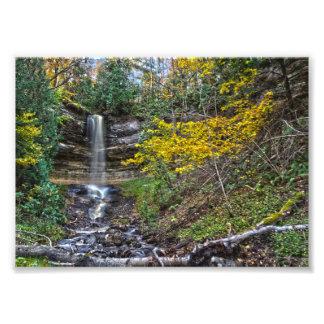 Munising Falls, Michigan in Autumn Photo Print
