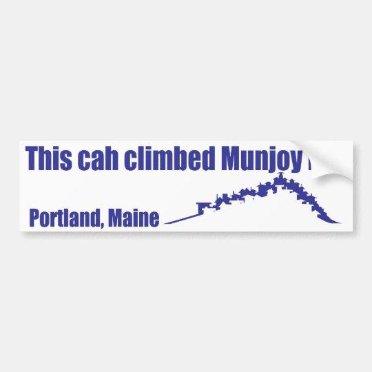 Munjoy hill bumper sticker