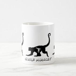 Munkey with Longboarder Tattoo design Mugs