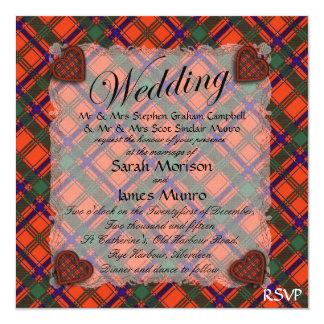 Munro Scottish clan tartan - Plaid Card