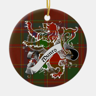 Munro Tartan Lion Christmas Ornament