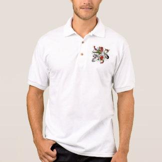 Munro Tartan Lion Polo Shirts