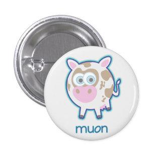 Muon Particle Cow 3 Cm Round Badge