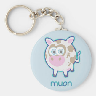 Muon Particle Cow Key Ring