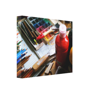 Mural art gallery wrapped canvas