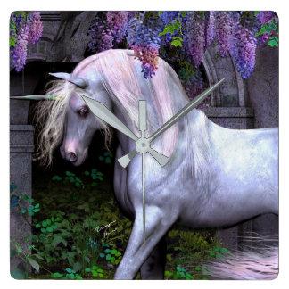 Mural clock Unicorn Magic