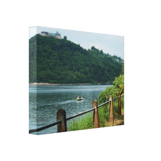 Mural Edersee bank and closed forest-hits a corner Canvas Print