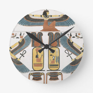 Mural from the Tombs of the Kings at Thebes, disco Round Clock