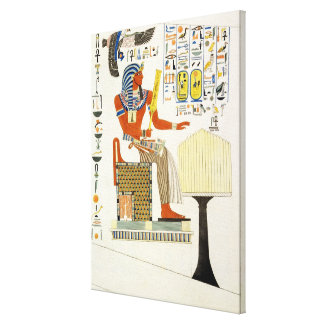 Mural from the Tombs of the Kings of Thebes, disco Canvas Print