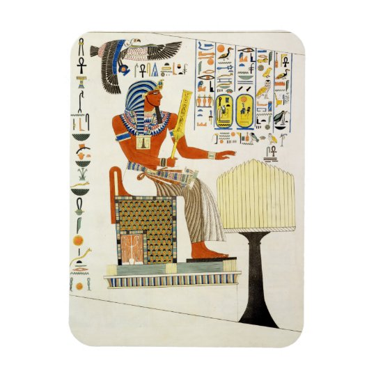Mural from the Tombs of the Kings of Thebes, disco Rectangular Photo Magnet