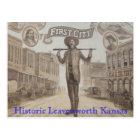 mural, Historic Leavenworth Kansas Postcard
