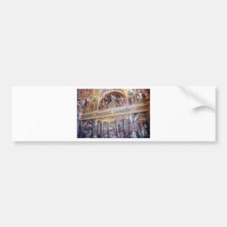 Mural in the Vatican Museum Bumper Sticker