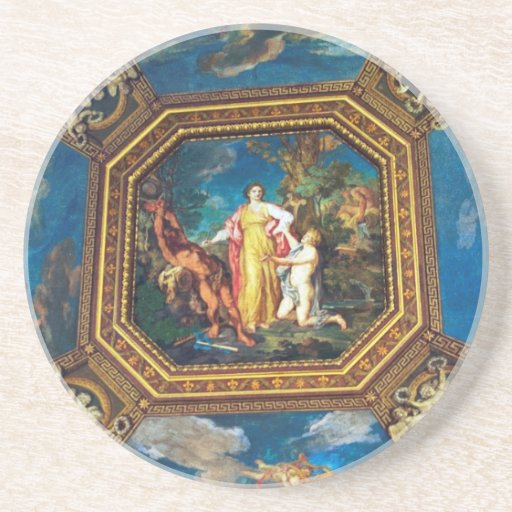 Mural in the Vatican Museum Coasters