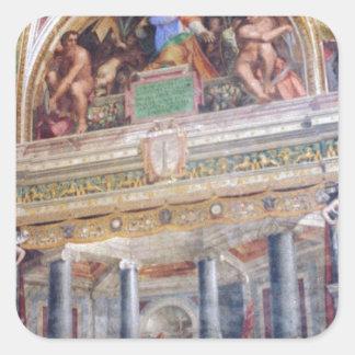 Mural in the Vatican Museum Square Sticker