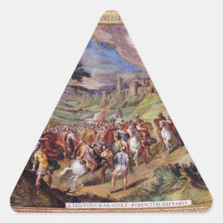 Mural in the Vatican Museum Triangle Sticker