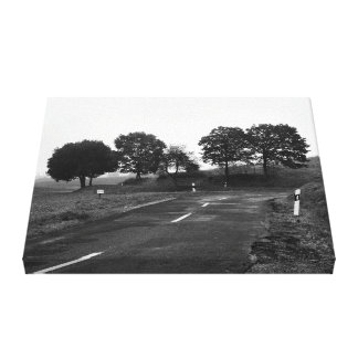 Mural lonely highway canvas print