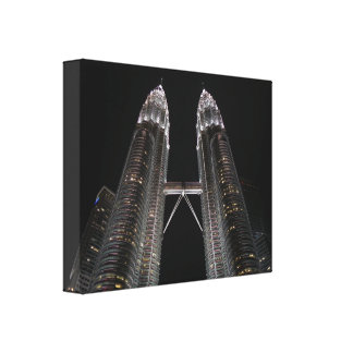 Mural Petronas Towers Stretched Canvas Print
