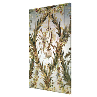 Mural silk of the Empress Bedroom 1787 Stretched Canvas Print