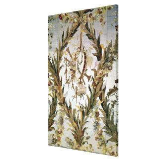 Mural silk of the Empress' Bedroom, 1787 Canvas Print