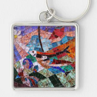Murano Mosaic Key Ring