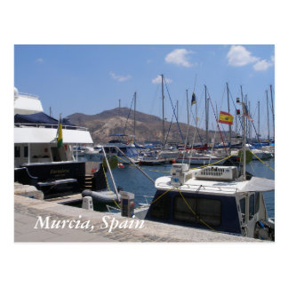Murcia, Spain boats in the marina Postcard