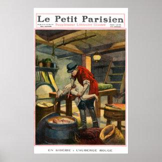 Murder - 1897 French newspaper print