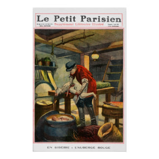 Murder inn - 1910 French newspaper print