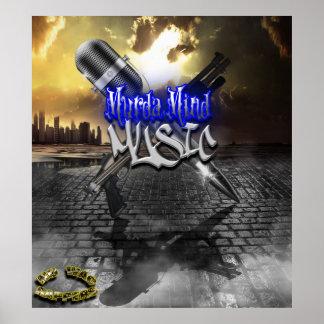 MURDER MIND MUSIC ...2012 POSTER