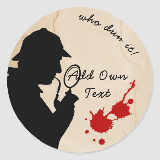 Murder Mystery Event Stickers Favors Personalized