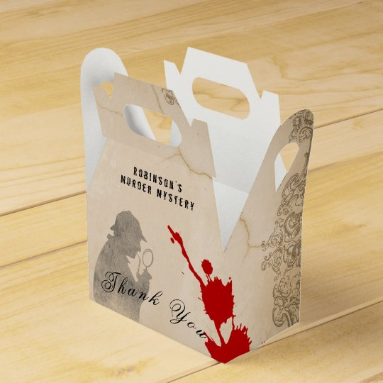Murder Mystery Gable Box Parchment Paper Theme