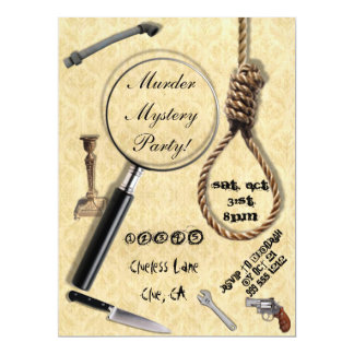 Murder Mystery Party Invitations