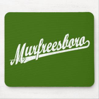Murfreesboro script logo in white distressed mouse pad
