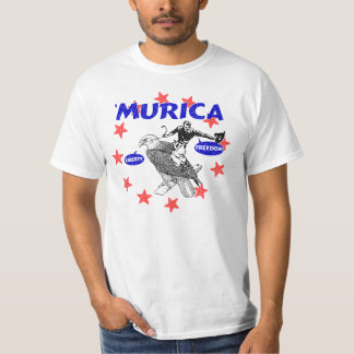 Murica Eagle and Cowboy T-shirt