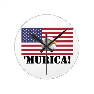 Murica Eagle Wall Clocks