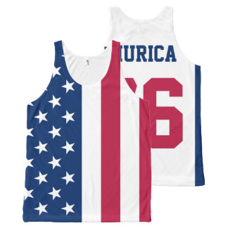 'Murica Est. 1776 American Flag All-Over Print Tank Top