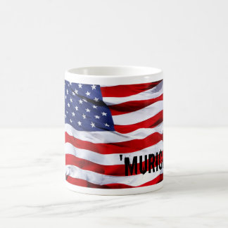 ` murica flag basic white mug