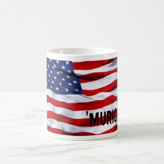 ` murica flag basic white mug