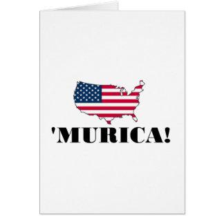 Murica Flag Greeting Card