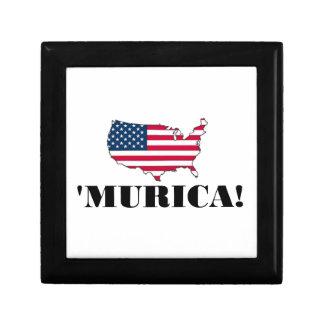Murica Flag Keepsake Boxes
