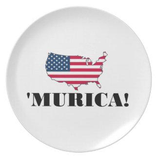 Murica Flag Plates