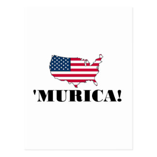 Murica Flag Postcard