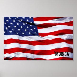 'MURICA Flag Poster