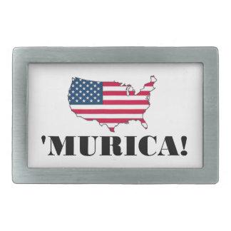 Murica Flag Rectangular Belt Buckle