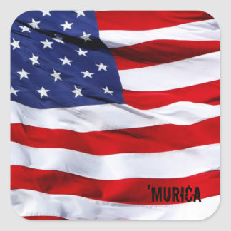 'MURICA Flag Square Stickers