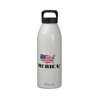 Murica Flag Water Bottle