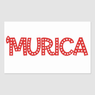 'Murica Rectangular Sticker