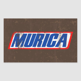 Murica Rectangular Sticker