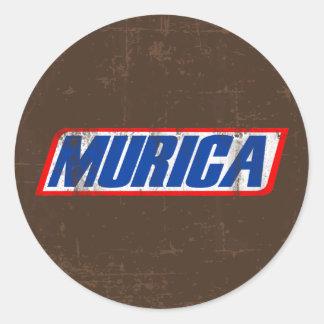 Murica Round Sticker